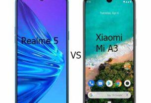 Compare Realme 5 vs Xiaomi Mi A3