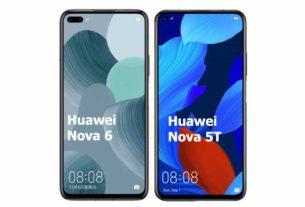 Huawei nova 6 vs Huawei nova 5T Comparison