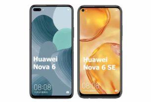 Huawei nova 6 vs Huawei nova 6 SE Comparison