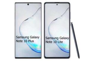 Samsung Galaxy Note 10 Lite vs Samsung galaxy Note 10 Plus
