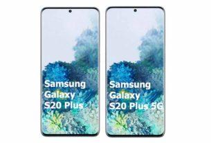 Samsung Galaxy S20 Plus vs Samsung Galaxy S20 Plus 5G Comparison
